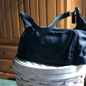 COACH  nylon  larger hobo bag